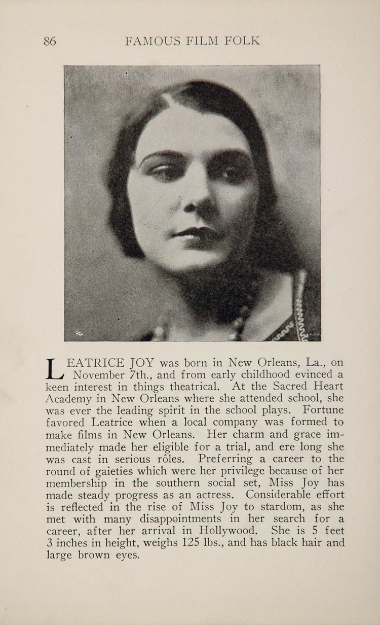 1925 Leatrice Joy Charles Ray Silent Film Movie Actor ORIGINAL HISTORIC IMAGE