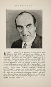 1925 Ernest Torrence Lois Wilson Silent Film Actor - ORIGINAL HISTORIC IMAGE