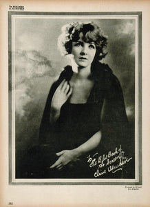 1923 Claire Windsor Silent Film Actress Biography Print ORIGINAL HISTORIC IMAGE