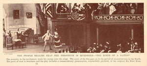 1927 Print Film Scene Birth of a Nation Lincoln Theatre - ORIGINAL