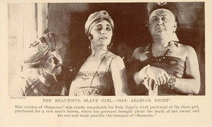 1927 Print Film Scene One Arabian Night Sumurun Negri - ORIGINAL