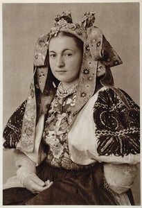 1953 Slovakian Bride Costume Wedding Dress Slovakia - ORIGINAL PHOTOGRAVURE SL1