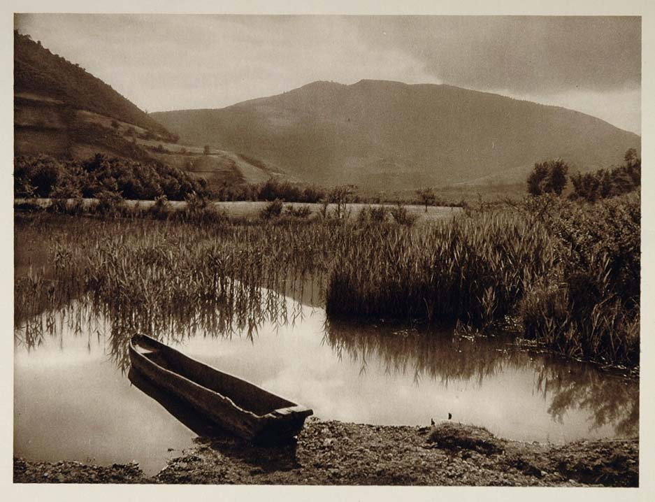 1926 Lake Pliva Bosnia and Herzegovina Photogravure - ORIGINAL SLAV1