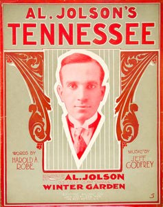 1915 Tennessee Al Jolson Harold A Robe Jeff Godfrey Decorative Red Winter SM3