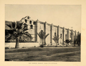 1906 Print Mission San Gabriel Arcangel Church California Landmark Histori