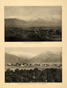 1906 Prints Old Baldy Mountain Claremont Pomona Southern California Landscape