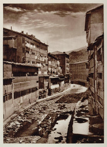 1928 Eibar Town Gipuzkoa Basque Spain Photogravure - ORIGINAL PHOTOGRAVURE SP2