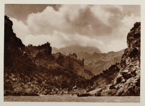 1928 Bay La Calobra Island of Mallorca Majorca Spain - ORIGINAL PHOTOGRAVURE SP2