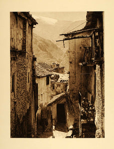 1925 Guejar Sierra Nevada Mountains Spain Buildings - ORIGINAL PHOTOGRAVURE SP3