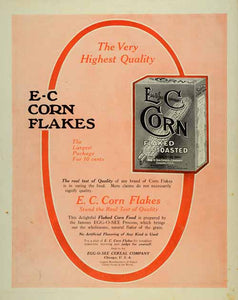 1907 Ad Egg-O-See E-C Corn Toasted Cereal Flakes Box - ORIGINAL ADVERTISING SP4