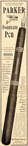1904 Ad Geo S Parker Pen Fountain Janesville Wisconsin - ORIGINAL SP4