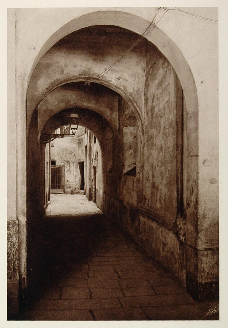 1928 Street Calle Pansas Barcelona Spain Photogravure - ORIGINAL SPAIN3