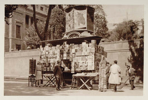 1928 Puesto Periodicos Newsstand News Kiosk Barcelona - ORIGINAL SPAIN3