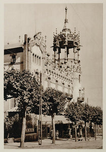 1928 Hotel Barcelona Spain Architecture Photogravure - ORIGINAL SPAIN3