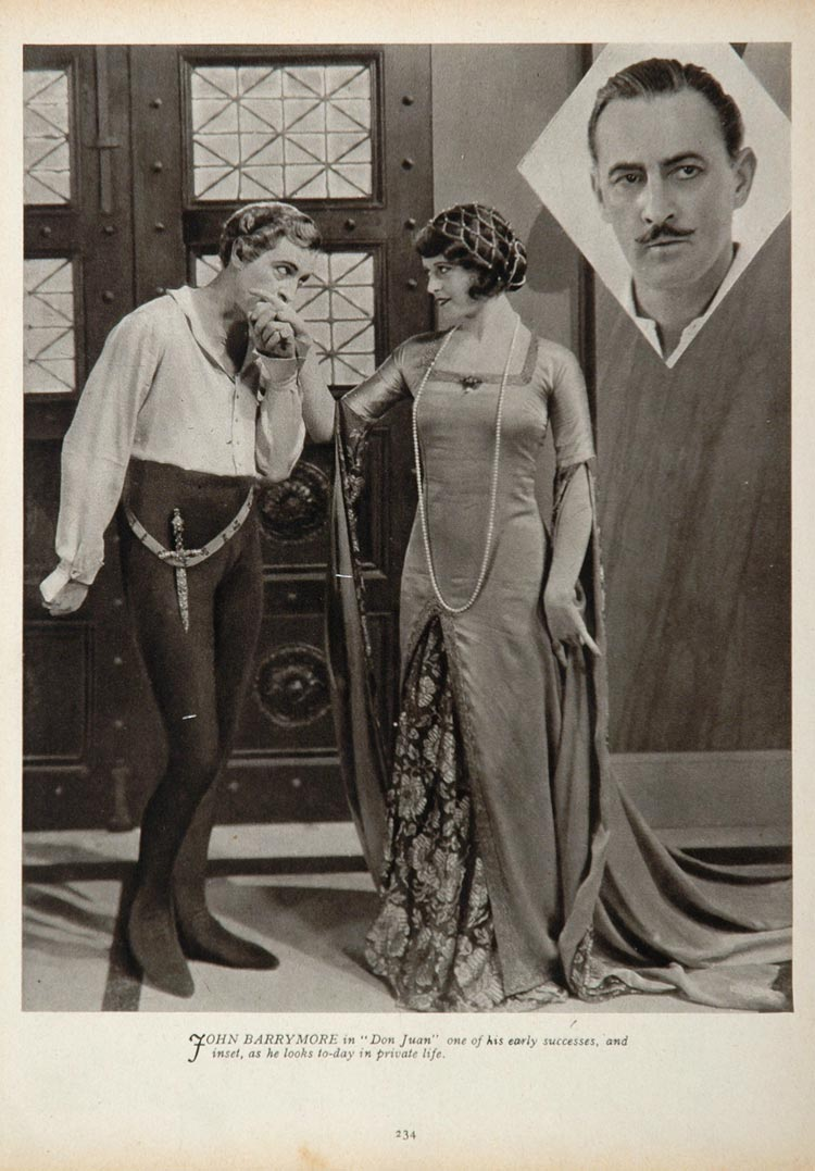 1933 John Barrymore Actor Movie Film Don Juan Print - ORIGINAL HISTORIC STAGE4