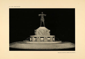 1906 Franz Metzner Nibelung Fountain Sculpture Print - ORIGINAL HISTORIC STU1