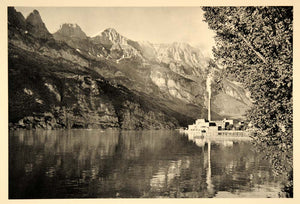 1938 Walensee Lake Walen Walenstadt Switzerland Swiss - ORIGINAL SZ1