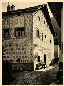 1938 Pedrun House Haus Andeer Switzerland Architecture - ORIGINAL SZ1