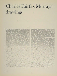1962 Print Article Charles Fairfax Murray Drawings - ORIGINAL TC2