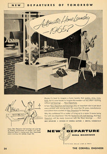 1955 Ad New Departure Ball Bearings Home Laundry Washer - ORIGINAL TCE1