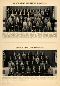 1957 Print Cornell University Civil Electrical Engineer ORIGINAL HISTORIC TCE1