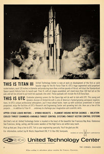 1963 Ad United Technology Center Air Force Titan III - ORIGINAL ADVERTISING TCE2