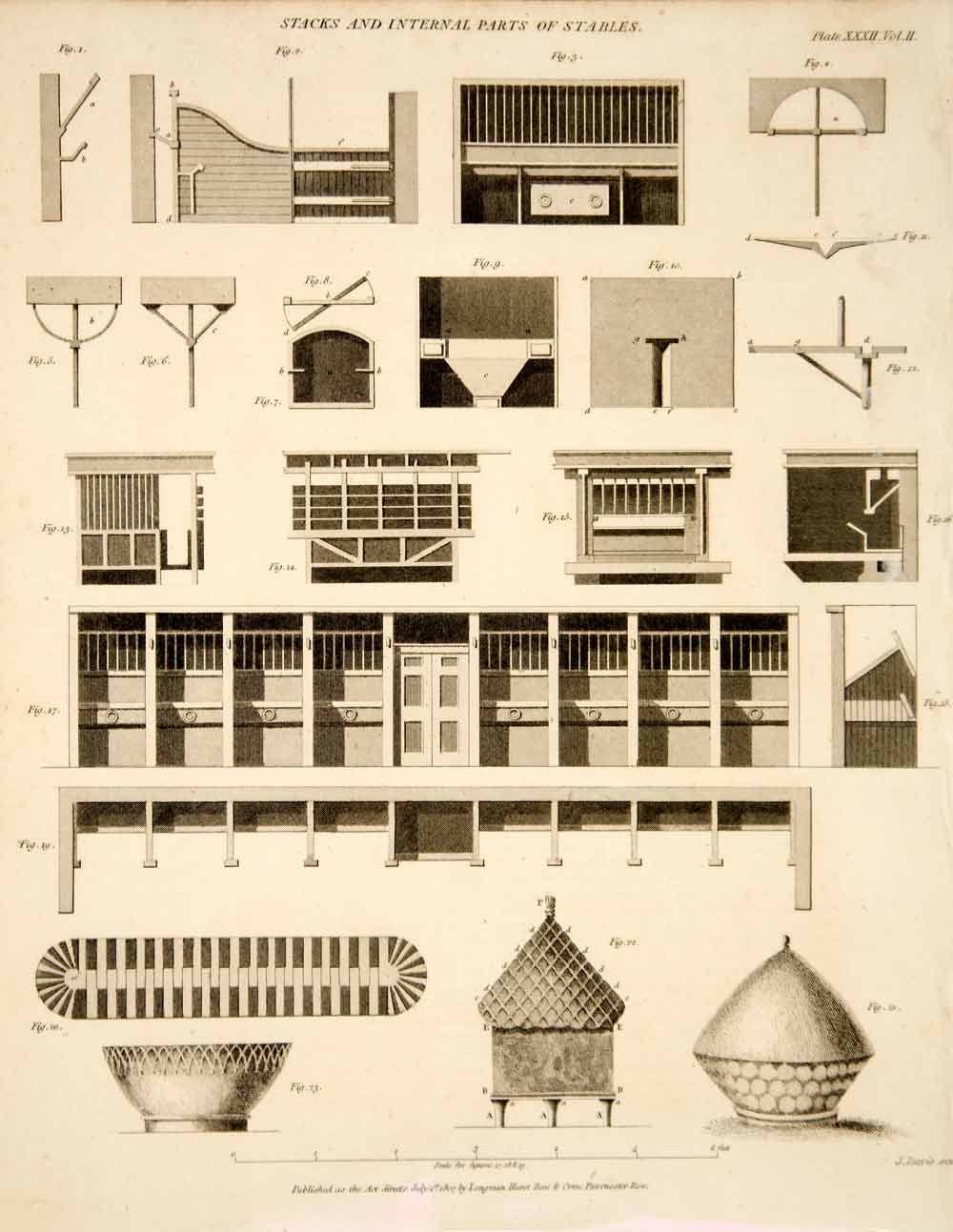 1807 copper engraving horse stable blueprint farm building 1807 copper engraving horse stable blueprint farm building construction tcf2 malvernweather Image collections