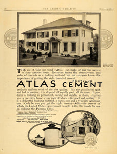 1909 Ad Atlas Portland Cement Panama Canal Le Brun - ORIGINAL ADVERTISING TGM1
