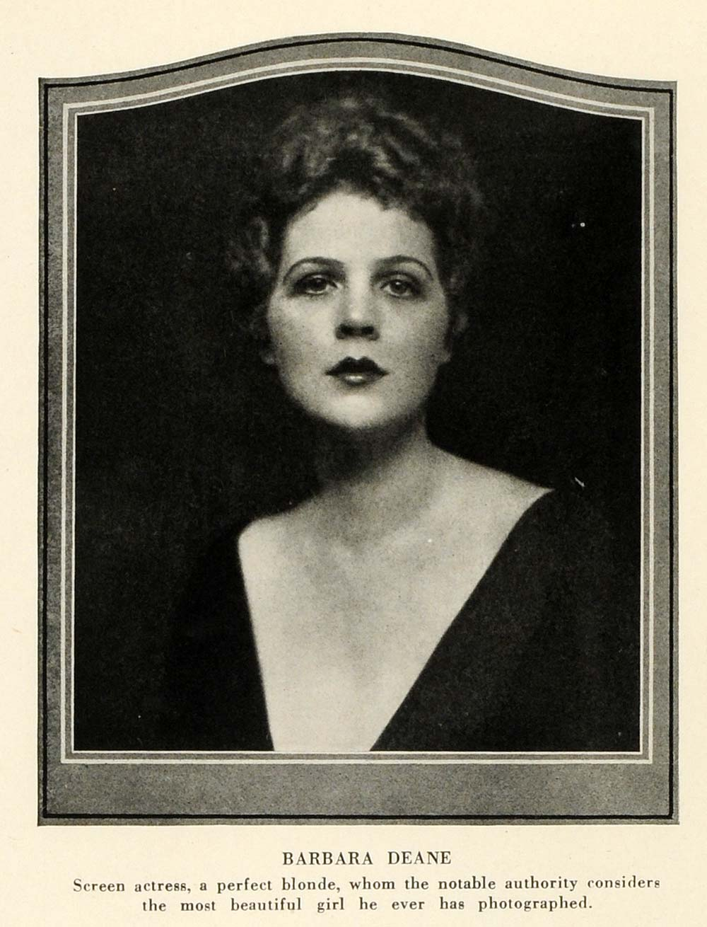 1924 Print Barbara Deane Actress Acting Performer Singer Portrait Film THM