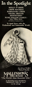 1924 Ad Mallinsons Silks Clothing Fashion Stage Actress Singer Dancer Mary THM