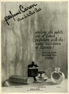 1924 Ad Parisian French Perfume Caron Parfum Bottles Fragrance Scents THM