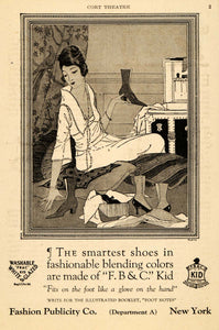 1919 Ad Fashion Publicity FBC Kid Boot Shoe Fashion - ORIGINAL ADVERTISING THR1