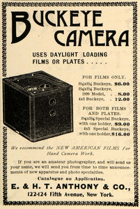 1900 Ad E & H T Anthony & Co. Buckeye Camera Vintage - ORIGINAL ADVERTISING TIN1
