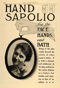 1907 Ad Hand Sapolio Soap Face Hands Bath Skin Care - ORIGINAL ADVERTISING TIN1