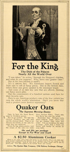 1916 Ad Quaker Oats for the King Aluminum Cooker Price - ORIGINAL TIN2