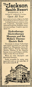 1917 Ad Jackson Health Resort Moliere Thermoelectric - ORIGINAL ADVERTISING TIN2