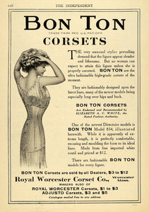 1908 Ad Royal Worcester Corset Company Girl Clothing Accessories Elizabeth TIN4