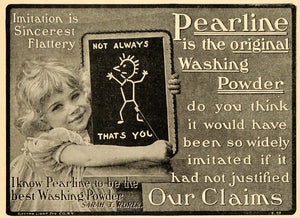 1901 Ad Pearline Washing Powder Laundry Sarah T. Rorer - ORIGINAL TIN4