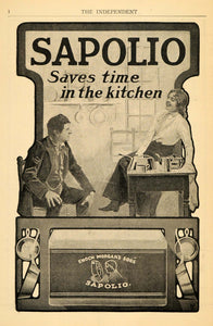1903 Ad E Morgans Sons Sapolio Soap Cleaning Product - ORIGINAL ADVERTISING TIN5