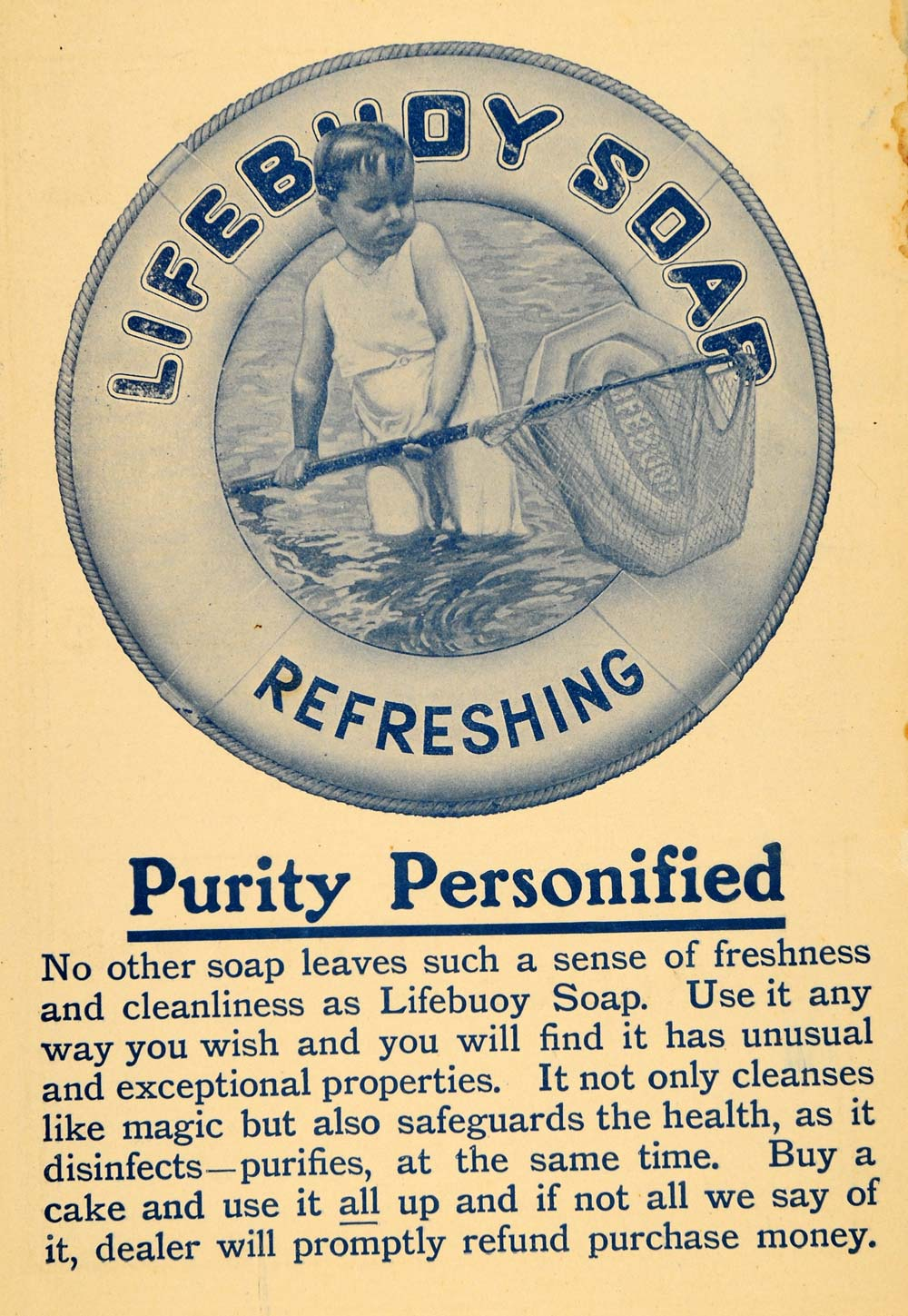1903 Ad Lever Brothers Limited Lifebuoy Bath Soap Child - ORIGINAL TIN5