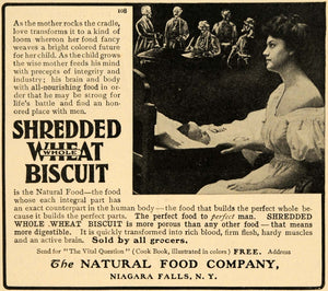 1903 Ad Natural Food Shredded Wheat Biscuit Mother Baby - ORIGINAL TIN5