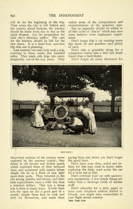 1908 Article Antique Motor Car Vacation Traveling Touring George Ethelbert TIN6