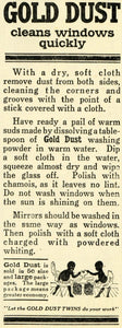 1913 Ad Gold Dust Twins Washing Powder Window Cleaner Household Chores TLW2