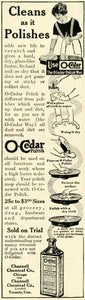 1914 Ad O Cedar Polish Bottle Cleaning Household Chores Channell Chemical TLW2