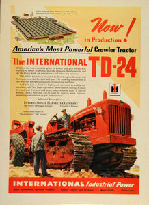 1948 Ad International Diesel Crawler Tractor TD-2 Plant - ORIGINAL TM1