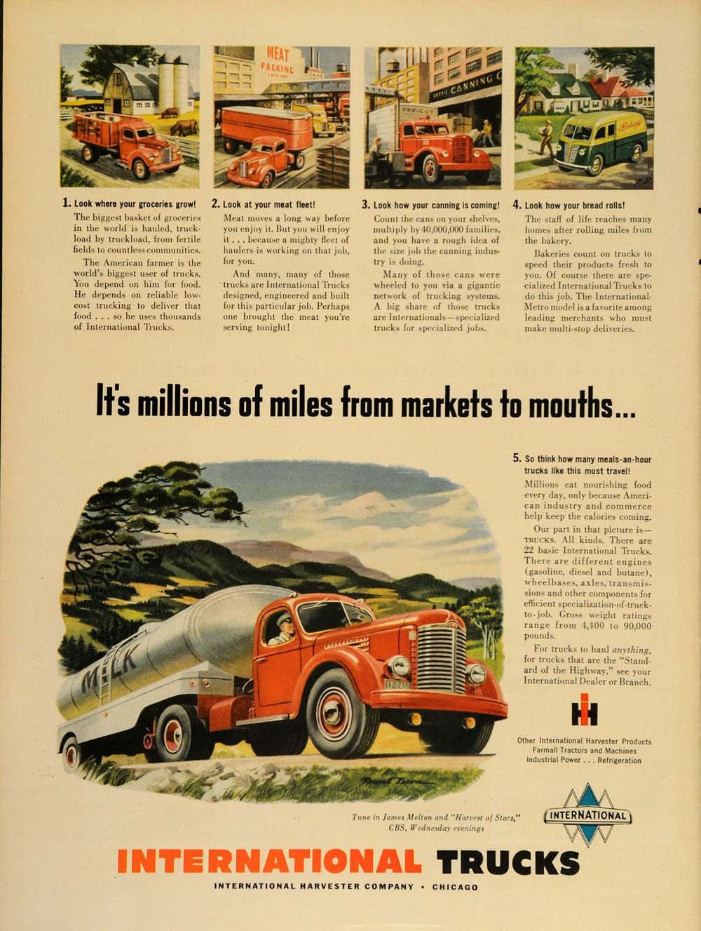 1949 Ad International Harvester Company Trucks IH Haul - ORIGINAL TM1
