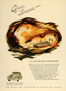 1948 Ad 1949 Kaiser Frazer Convertible Four Door Car - ORIGINAL ADVERTISING TM1