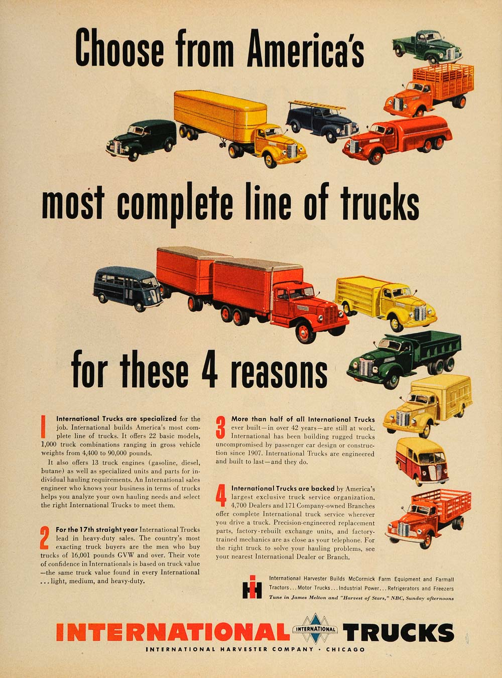 1949 Ad International Trucks Trailer Dump Panel Semi - ORIGINAL ADVERTISING  TM1