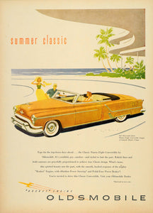 1953 Ad Oldsmobile Summer Classic 98 Convertible Coupe - ORIGINAL TM3