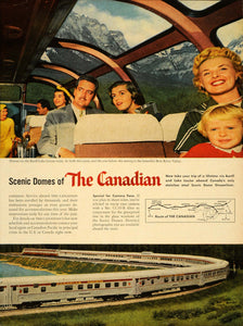 1956 Ad Canadian Pacific Railway Canadian Rockies Train - ORIGINAL TM3
